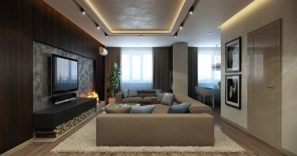 Apartment design number one begins in the lounge area for Normal living room ideas