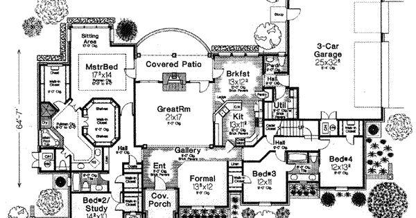 House plan 310 552 2 941 sq ft rambler w bonus room for Rambler floor plans with bonus room