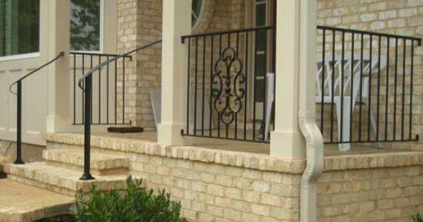 Exterior Residential Iron Railings Custom Aluminum
