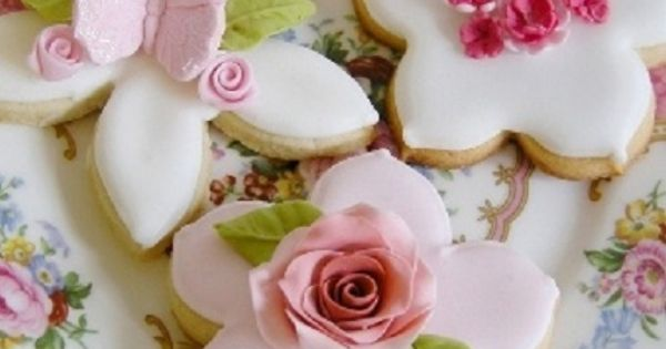 pink and white cookies | Tickle Me Pink | Pinterest | Cookies, Pink ...