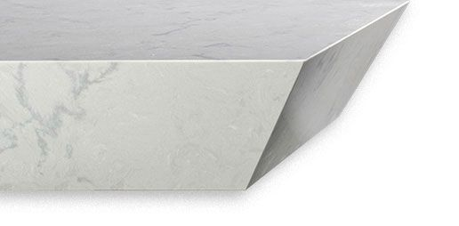 Cambriaquartz Idris Edge A Reversed And Sharply Slanted Mitered