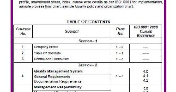 iso 9001 quality management system manual pdf