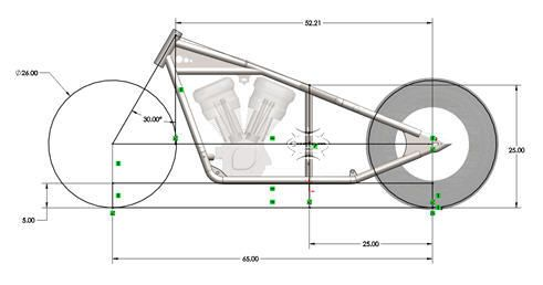 Rigid Sportster Frame Plans Motorcycle Frames Chopper Frames Bobber Motorcycle
