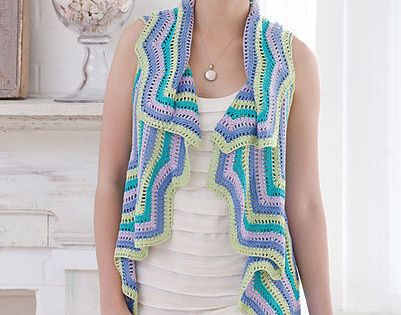 Believe It Or Not This Crochet Vest Requires 4800 Yards Of