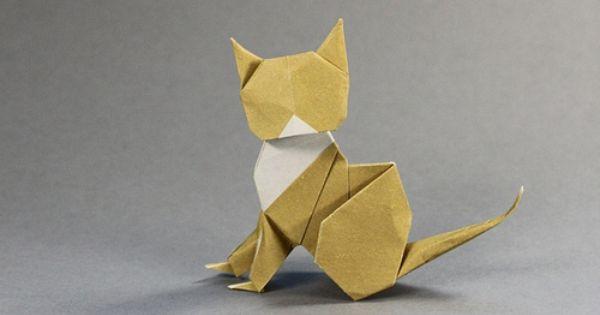 origami cat cats pinterest origami cat origami and