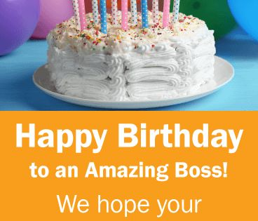 To An Amazing Boss Happy Birthday Card For Boss Birthday Greeting Cards By Davia Birthday Wishes For Boss Happy Birthday Wishes Quotes Birthday Quotes For Her