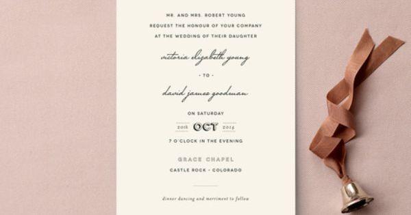 "plain jane"" - customizable wedding invitations by design lotus, Wedding invitations"