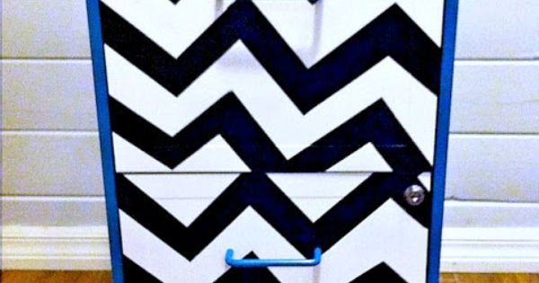 Metal file file cabinet chevron teal black and white makeover Teal spray paint for metal