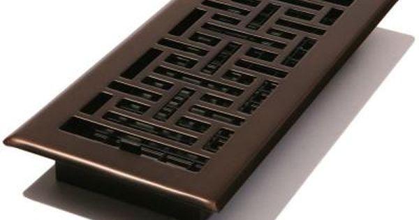 Decor Grates 4 In X 10 In Steel Floor Register In Oil