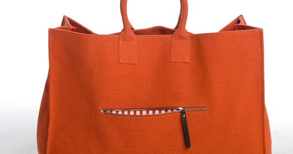 Orange tote - my summer bag! Maybe...