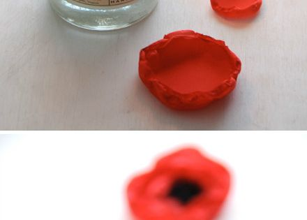 diy- Poppy flower for gift wrap / craft ideas / style