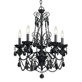 Shop Af Lighting Mischief 21 In 5 Light Black Candle Chandelier At