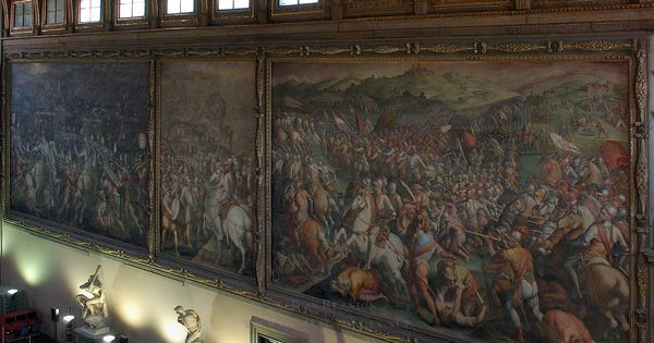 Hall of the five hundred i n f e r n o dan brown for Battle of marciano mural