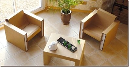 Muebles de cart n para el sal n muebles de cart n - Carton para muebles ...