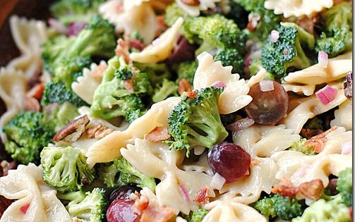 Tasty salad - Eat Yourself Skinny: Broccoli Grape Harvest Salad