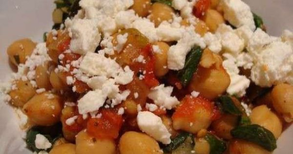 ... and feta   In the kitchen...   Pinterest   Chickpeas, Feta and Spinach