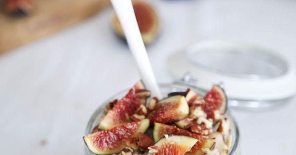 Fig, Tahini & Honey Overnight Oats | Recipe | Tahini, Overnight Oats ...
