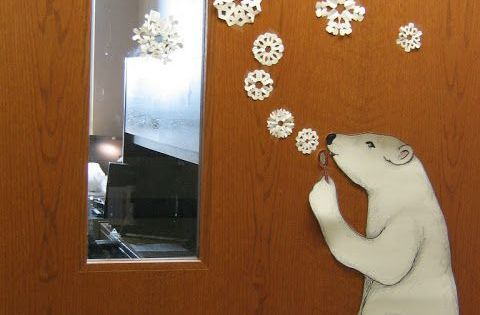 Love That The Polar Bear Is Blowing The Snowflakes Like