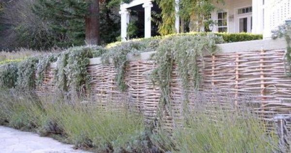 Pin By Tammy Hart On Birdhouses Fences Building A Raised Garden Willow Fence Landscaping Retaining Walls