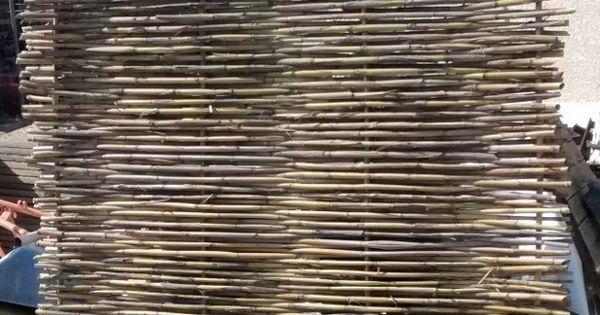 grinchou blog fabriquer tresser un panneau une palissade brise vue en canisse roseau canne. Black Bedroom Furniture Sets. Home Design Ideas
