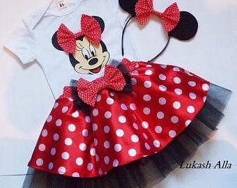 Minnie Mouse Vestido De Minnie Mouse Cumpleaños Traje Minnie