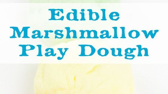 how to make edible play dough with marshmallows