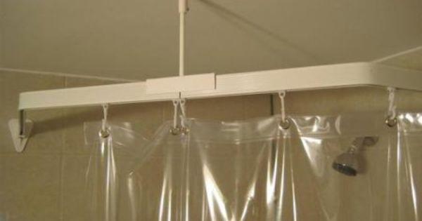 Amazon Com Bendable Shower Curtain Rod White Finish Shower