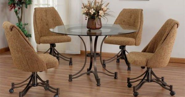 Kitchen Tables And Chairs With Wheels Comfortable Dining Chairs Dinette Sets Dining Chair Design