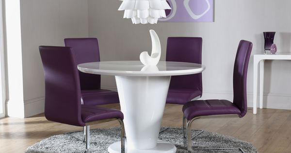 The Paris White High Gloss Round Dining Table and 4 Chairs  : e3ca4b5dddcfcbf7777e54d0c90ad087 from www.pinterest.com size 600 x 315 jpeg 25kB