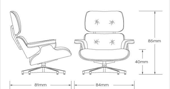 eames lounge chair dimensions cm Buscar con Google Curso Pinterest