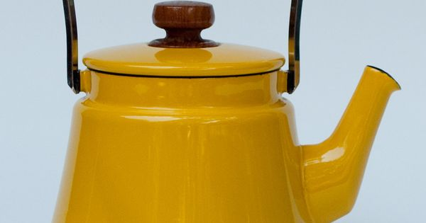 Mustard yellow teapot