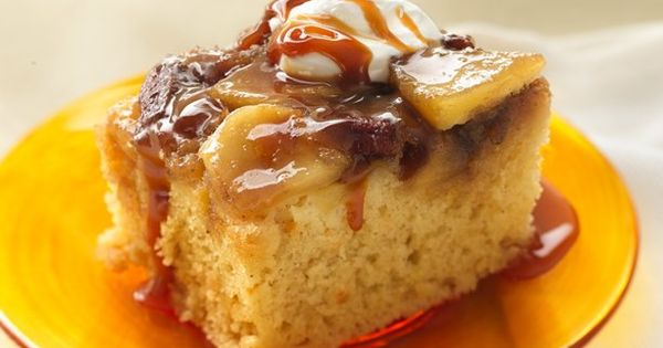 Warm Caramel Apple Cake Recipe from Betty Crocker