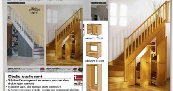 rangement sous escalier coulissant recherche google. Black Bedroom Furniture Sets. Home Design Ideas