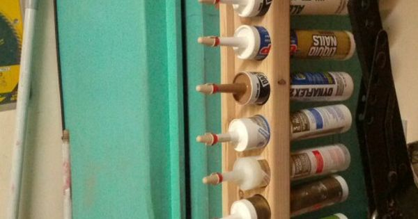 Caulking storage rack. Electrical Wirenuts seal end to ...