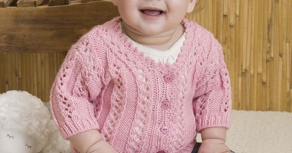Baby Girl S Sweater Free Knitting Pattern From Red Heart