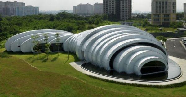The pod pavilion gotas de agua naturales fueron la inspiraci n para la estructura del pabell n - Casas de madera y mas com ...