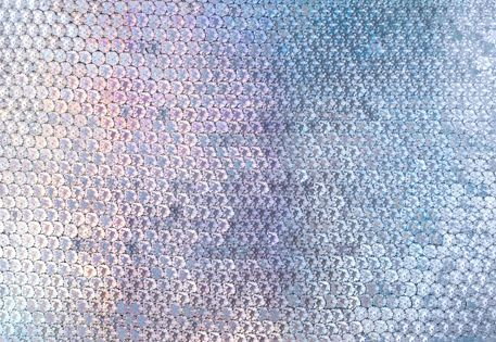 sequin wall via Optical Fixation