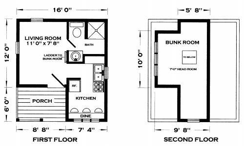 Whitehorse Ii Cabin Plan Tiny House Floor Plans Cabin Floor Plans Tiny House Plans