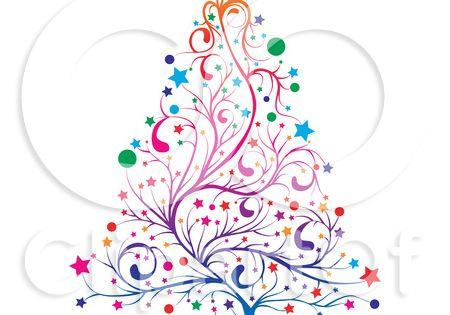 whimsical christmas tree clip art free - photo #30