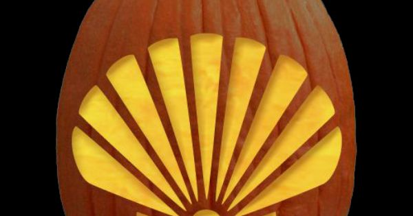 Free Printable Scallop Shell Pumpkin Carving Patterns