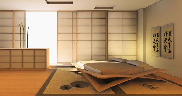 Style japonais pour conception de chambre coucher3 for Chambre design japonais