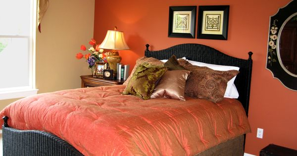 This Orange Accented Guest Bedroom Was Designed Furnished By Ruby Gordon Furniture Sweet