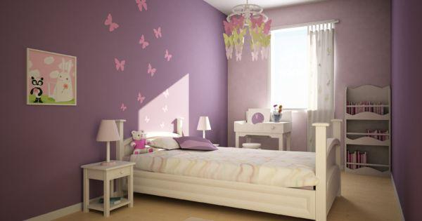 D co int rieur violet trinitydeco conseils en - Decoration chambre fillette ...
