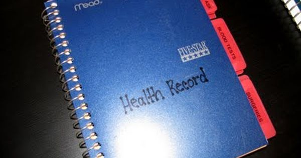 Health Records Organized Health Records Medical Binder Medical