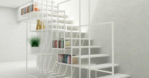 Minimalistische stalen trap ontwerp going up always pinterest trap ontwerp ontwerp en kast - Interieur ontwerp trap ...