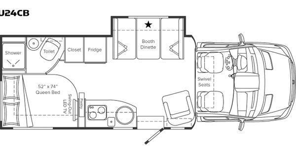 Class B Motorhome Floor Plan Unity Class B Motor Home