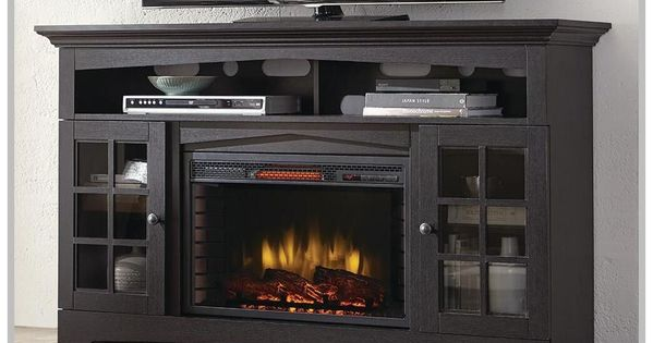 114 Reference Of Corner Tv Stand Home, Greatlin Infrared Electric Fireplace Tv Stand In Black Walnut 26mmas6064 Nw07