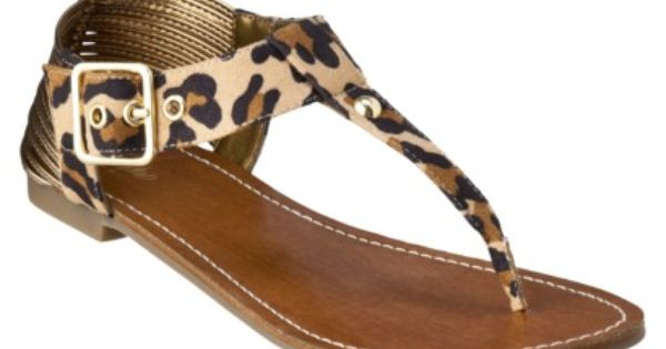 I have these and absolutely LOVE them!!!! Leopard print gladiator sandals, $19.99