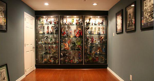 Comic book statue custom cabinets google search shelf - Custom display cabinets ...