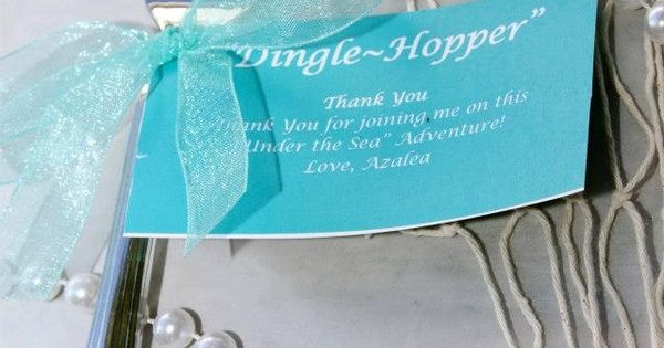 The Little Mermaid Inspired DingleHoppers make out of dollar store forks for